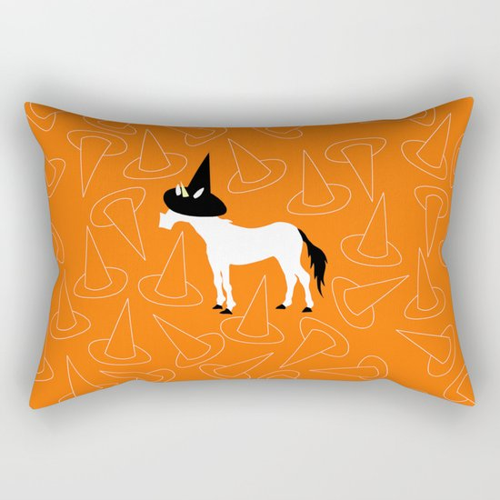 Witch Hat Unicorn Rectangular Pillow