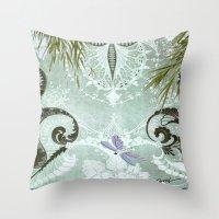 tiffany Throw Pillows featuring tiffany lake by Ariadne