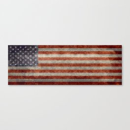 USA flag - Retro vintage Banner Canvas Print