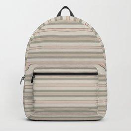 Beige Stripes Backpack