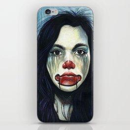 Portrait - Clowning Around Girl iPhone Skin