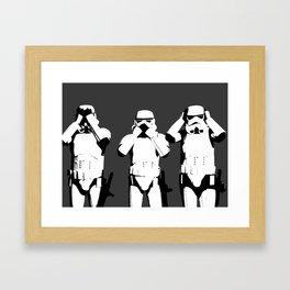 No Evil Framed Art Print