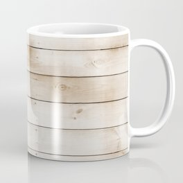 coffee brown distressed stained painted wood board wall Coffee Mug