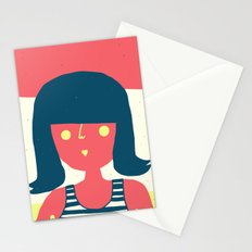 Self-portrait Waiting for Summer Stationery Cards