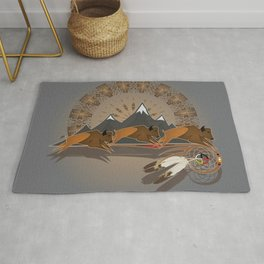 Native American Indian Buffalo Nation Rug