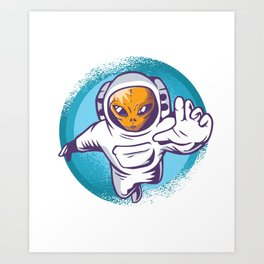 Alien Astronaut Art Print