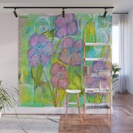 Spring Fantasy, Abstract Flowers Art Wall Mural