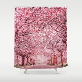 Cherry Blossom in Greenwich Park Shower Curtain