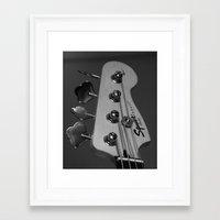 bass Framed Art Prints featuring Bass by Elisa Camera