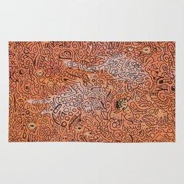 fall vibes orange doodle acrylic wood board Rug