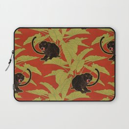 Black Panthers on  Red. Laptop Sleeve