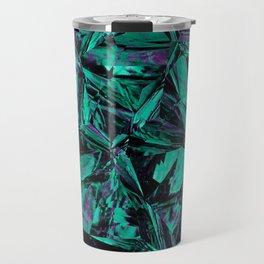 Green Leather Skin Distortion Travel Mug