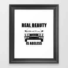 Real Beauty Is Ageless Framed Art Print