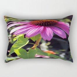Pink Cone Flower Rectangular Pillow