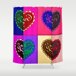 8 parts of love Shower Curtain
