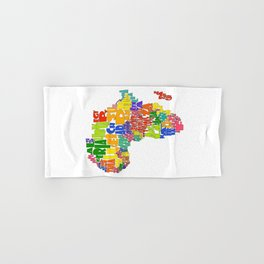 African Continent Cloud Map Hand & Bath Towel