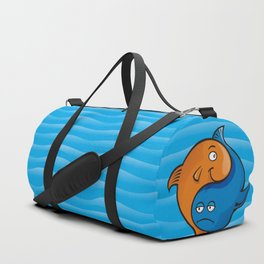 Yin Yang Fish Cartoon Duffle Bag