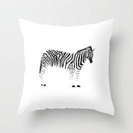 Zebra Ink Drawing Throw Pillow
