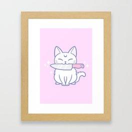 Knife Kitten 02 Framed Art Print