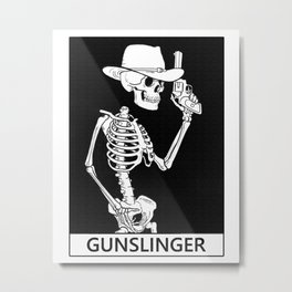 Death the Gunslinger Metal Print