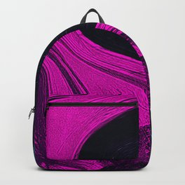 Liquid pink abstract Backpack