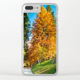 trekking path in an autumn day in the alps Clear iPhone Case