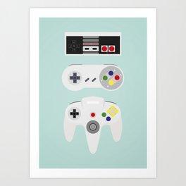Video Game controller Art Print