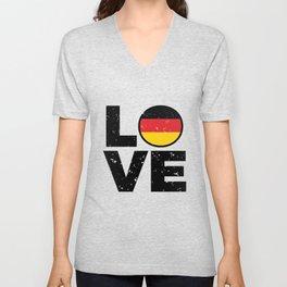 Germany Flag Shirt German Gift Idea Love Unisex V-Neck