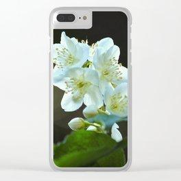 Jasmine flower Clear iPhone Case