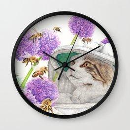 Bee Cat Wall Clock