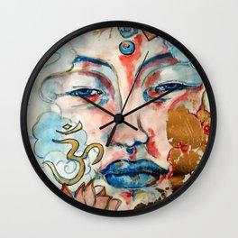 Buddah, lotus and OM Wall Clock