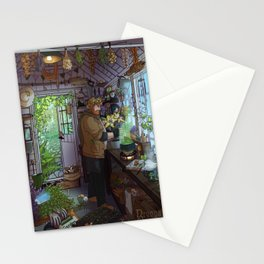 Modern Male Witch Greenhouse Stationery Cards