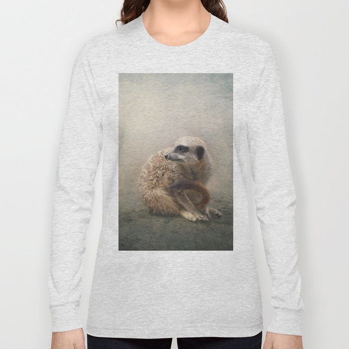 Study of a young Meerkat Long Sleeve T-shirt