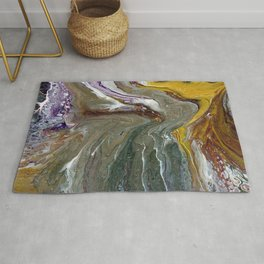 Fluid Acrylic XX - Original, acrylic, abstract painting Rug