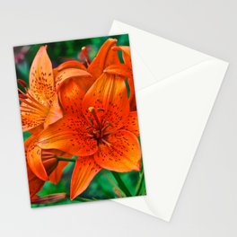 Orange Tiger Lilies - The Peace Collection Stationery Cards