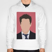 robert downey jr Hoodies featuring Robert Downey Jr. Digital Portrail by RoarsAdams