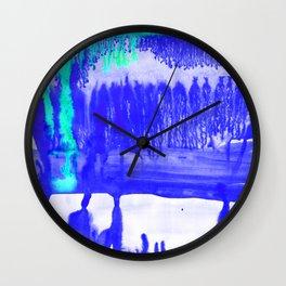 Dip Dye Ultramarine Wall Clock