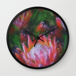 Big Protea Botanical Flowers The Three Kings Wall Clock