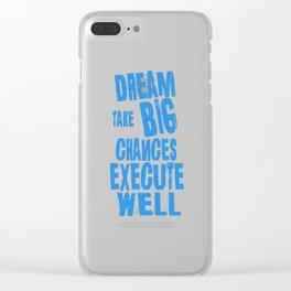 Dream Plan Execute T-shirt Design Dream big Clear iPhone Case