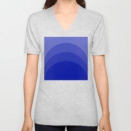 Four Shades of Blue Curved Unisex V-Neck