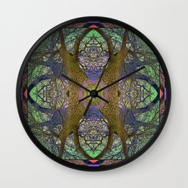 ANCIENT PEAR TREE MANDALA Wall Clock