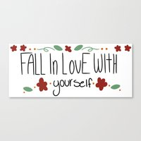 paramore Canvas Prints featuring Fall in love with yourself by ....