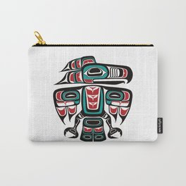 Haida Tlingit Native Raven Totem Carry-All Pouch