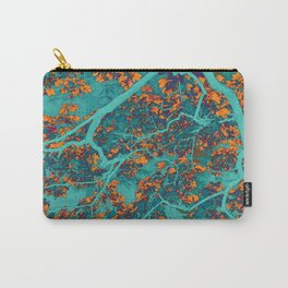 Colourful green and orange trees Carry-All Pouch