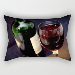 Red  Wine and Wine Glass Photograph Rectangular Pillow