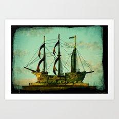 The Copper Ship Art Print