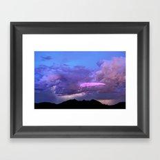 2015 Arizona Monsoon Storm UFO Photo Bomb Framed Art Print