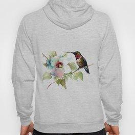 Hummingbird and White Magnolia Hoody