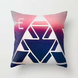 Triangular Visions Throw Pillow