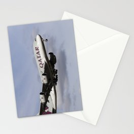 Qatar Airlines Airbus A380 Stationery Cards